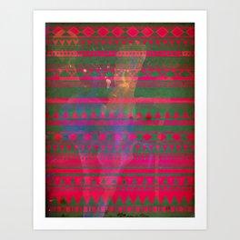 Aztec Dreams tribal pattern Art Print