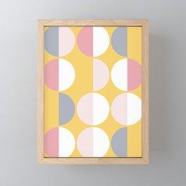 Mid Century Modern Moon & Sun Pattern 2 Framed Mini Art Print