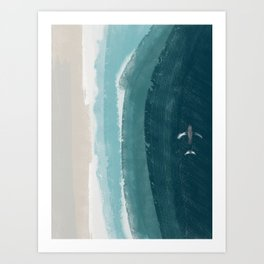 American Coast with whale Art Print