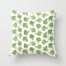 Broccoli - Scattered Throw Pillow