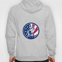 American Farrier USA Flag Icon Hoody