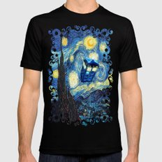 Soaring Tardis doctor who starry night iPhone 4 4s 5 5c 6, pillow case, mugs and tshirt Black MEDIUM Mens Fitted Tee
