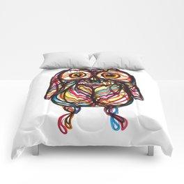 cute owl - gufo - hibou - búho Comforters