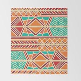 Tribal ethnic geometric pattern 027 Throw Blanket