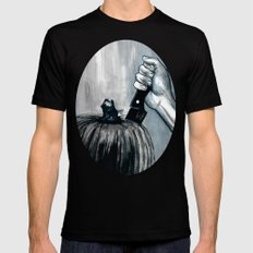 Carve It To Death MEDIUM Black Mens Fitted Tee