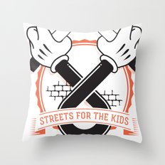 Streets For The Kids Throw Pillow