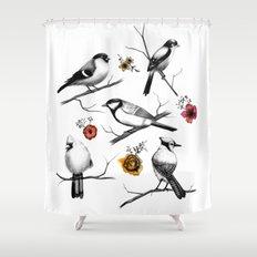 BIRDS & FLOWERS Shower Curtain