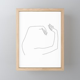 Arms up line drawing - Maude Framed Mini Art Print