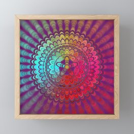 Mandala Flower Wheel Framed Mini Art Print