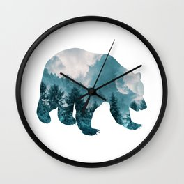 Bear of Forest and Sky Wall Clock