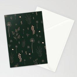 Wild botanical pattern Dark Green Edition Stationery Cards