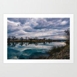 Waco Reflection Art Print