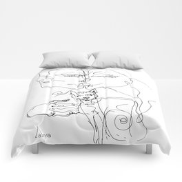 Couple with cat Comforters