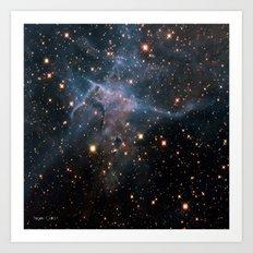 Mystic Mountain Nebula Art Print