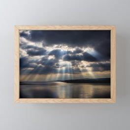 Sunbeams over Exmouth Framed Mini Art Print