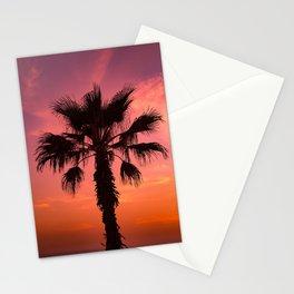 Pink Sunset Palm Tree Stationery Cards