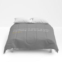 Bea Davis—Grey Comforters