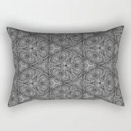 Gray Swirl Pattern Rectangular Pillow