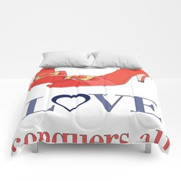 Shoe Love Conquers All Comforters