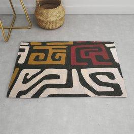African Mudcloth Print Rug