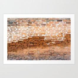 Brick Texture Art Print