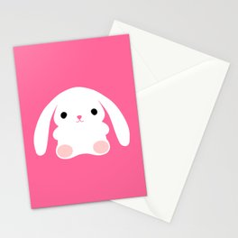Mei the Strawberry Rabbit Stationery Cards