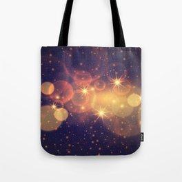 Shiny Sparkling Festive Holiday Bokeh Decorative Tote Bag