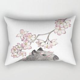 Capybara and petals Rectangular Pillow