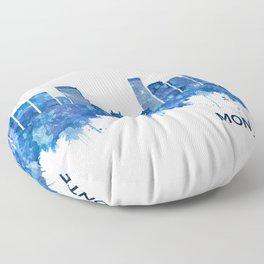 Montevideo Uruguay Skyline Blue Floor Pillow