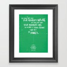 The Tenth Commandment Framed Art Print