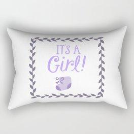 Its a girl Rectangular Pillow