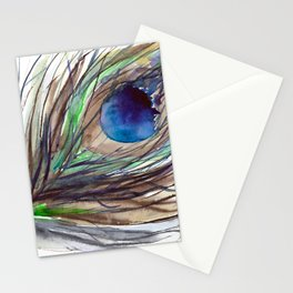 Peacock piece || watercolor Stationery Cards