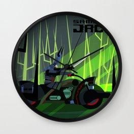 Samurai Jack Bike Wall Clock