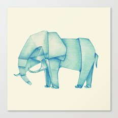 Paper Elephant Canvas Print
