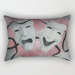 Two Face Mask Rectangular Pillow