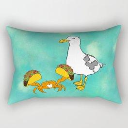 Flock of Gerrys Gerry & Crabarita share tacos Rectangular Pillow
