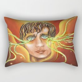 Neuro Stare Rectangular Pillow