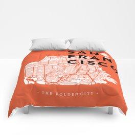 San Francisco Map 04 Comforters