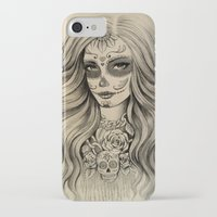 sugar skull iPhone & iPod Cases featuring Sugar Skull by Vivian Lau