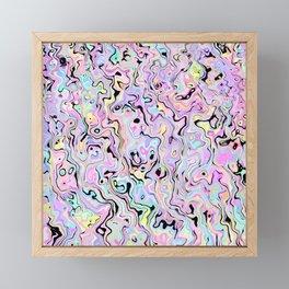 Marbled Pastel Framed Mini Art Print
