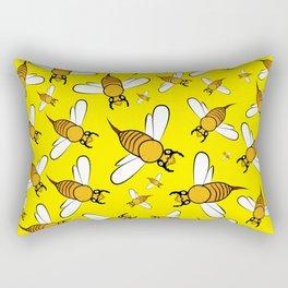 Bees on Yellow Rectangular Pillow