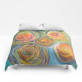 Abstract Glow  Comforters