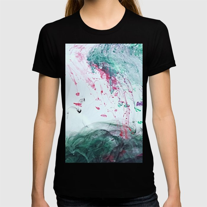 Raspberry Ocean Ink Fluid T-shirt