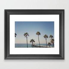 Manhattan Beach Pier Framed Art Print