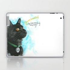 Black Cat-2 Laptop & iPad Skin