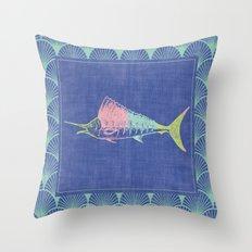 Thrift Shop Sail Fish Throw Pillow