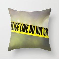Police Line Do  Not Cross Throw Pillow