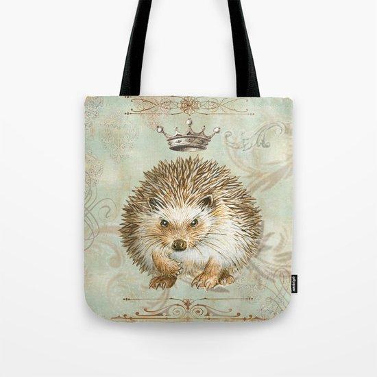 The angry  hedgehog Tote Bag