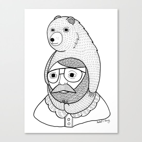 On how baby bears are often used as winter hats Canvas Print
