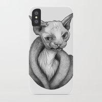 sphynx iPhone & iPod Cases featuring Sphynx by Tim Van Den Eynde